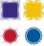 Scroll style frames vector illustration