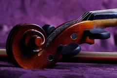 Scroll of the violin Royalty Free Stock Photography