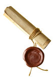 Scroll with wax seal Stock Photography