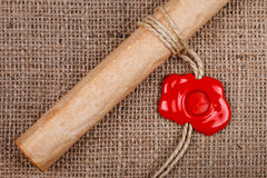 Scroll with wax seal Royalty Free Stock Photos