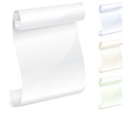 Scroll white paper. For writing, blank,  illustration Royalty Free Stock Photo