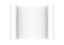 Scroll of white paper. Isolated render on a white background Royalty Free Stock Images