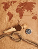 Scroll With Wax Seal And Rope Royalty Free Stock Image