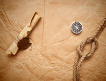 Scroll With Wax Seal And Rope Royalty Free Stock Photo