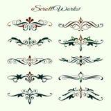 Scroll works Design, Ornamental decorative Element Royalty Free Stock Photos