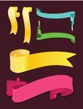 Scrollbaner. Vektorset Royaltyfri Fotografi