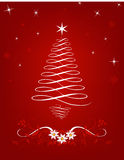 Scrolled Christmas Tree Royalty Free Stock Image
