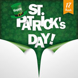 Scrolled 2Corner Vintage Cover Happy St Patrick Royalty Free Stock Photo