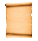 Scrolled old paper. Isolated on white background Royalty Free Stock Photography