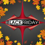 Scrolled Paper Cover 4 Corner Black Friday Foliage Royalty Free Stock Photo