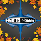 Scrolled Paper Cover 4 Corner Cyber Monday Autumn Foliage Stock Images