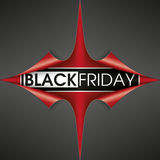 Scrolled Red Paper Cover 4 Corner Black Friday Stock Image