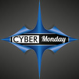 Scrolled Red Paper Cover 4 Corner Cyber Monday Royalty Free Stock Photo