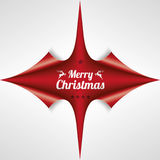 Scrolled Red Paper Cover 4 Corner Merry Christmas Stock Photography