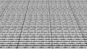 Scrolling black and white binary code royalty free illustration