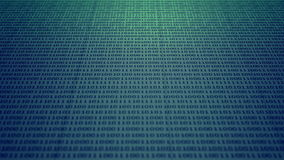Scrolling blue and green binary code stock illustration