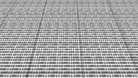 Scrolling czarny i biały binarnego kod royalty ilustracja