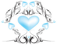 Scrolling Hearts royalty free stock photo