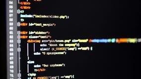 Scrolling w dół programowanie kod na komputerowym monitorze zbiory wideo