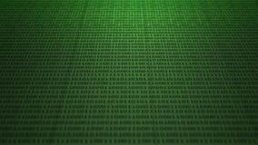 Scrolling zielonego binarnego kod ilustracji