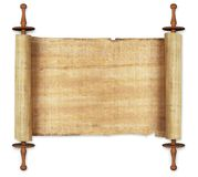 Scrolls. Ancient scrolls on white background Royalty Free Stock Photos