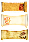 Scrolls with American Indian traditional patterns Stock Photography