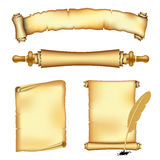 Scrolls and banners Royalty Free Stock Photography