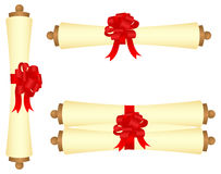 Scrolls with a bow Royalty Free Stock Photography