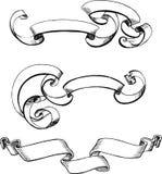 Scrolls Illustration. Design Elements on White Background Royalty Free Stock Photos