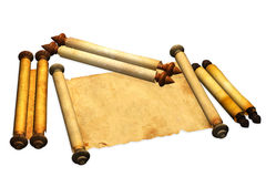 Scrolls of old parchment Royalty Free Stock Photos