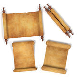 Scrolls. Realistic 3d render of scrolls Stock Images