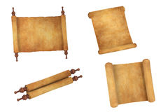 Scrolls. Realistic 3d render of scrolls Royalty Free Stock Photos