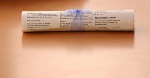 scrolltabell arkivbild
