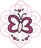 Scrollwork Butterfly Royalty Free Stock Photos
