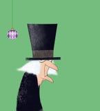 Scrooge滑稽的墨水图画  免版税库存图片