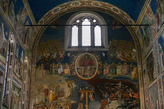 Scrovegni教堂内部在帕多瓦市 库存图片