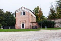 Scrovegni教堂看法在帕多瓦市 库存照片