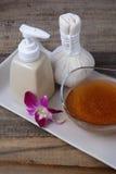 Scrub масло и skincare Стоковые Изображения