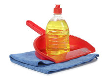 Scrub and cleaning products Stock Photos