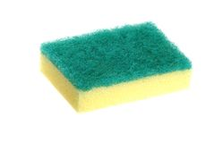 Scrub sponge Stock Photo