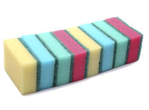 Scrub sponges in different colors Stock Photo