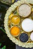 Scrubb powder for spa massage Royalty Free Stock Photos