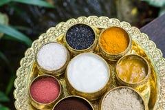 Scrubb powder for spa massage Royalty Free Stock Photo