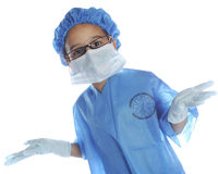 Scrubbed Up and Ready Stock Image