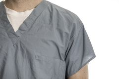 Scrubs. Young man in scrubs for use in the medical field royalty free stock images