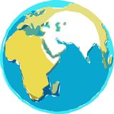 Scruffy Globe. Graphic Royalty Free Stock Images