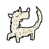 Scruffy little dog cartoon. Retro cartoon with texture. Isolated on White Stock Photo