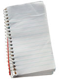 Scruffy old reporters notepad. Small scruffy old reporters notepad isolated over white Royalty Free Stock Photos