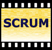 SCRUM Stock Foto