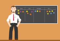 Scrum agile board. To increase productivity for team work royalty free illustration